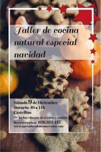 ALT=Taller de cocina natural especial navidad