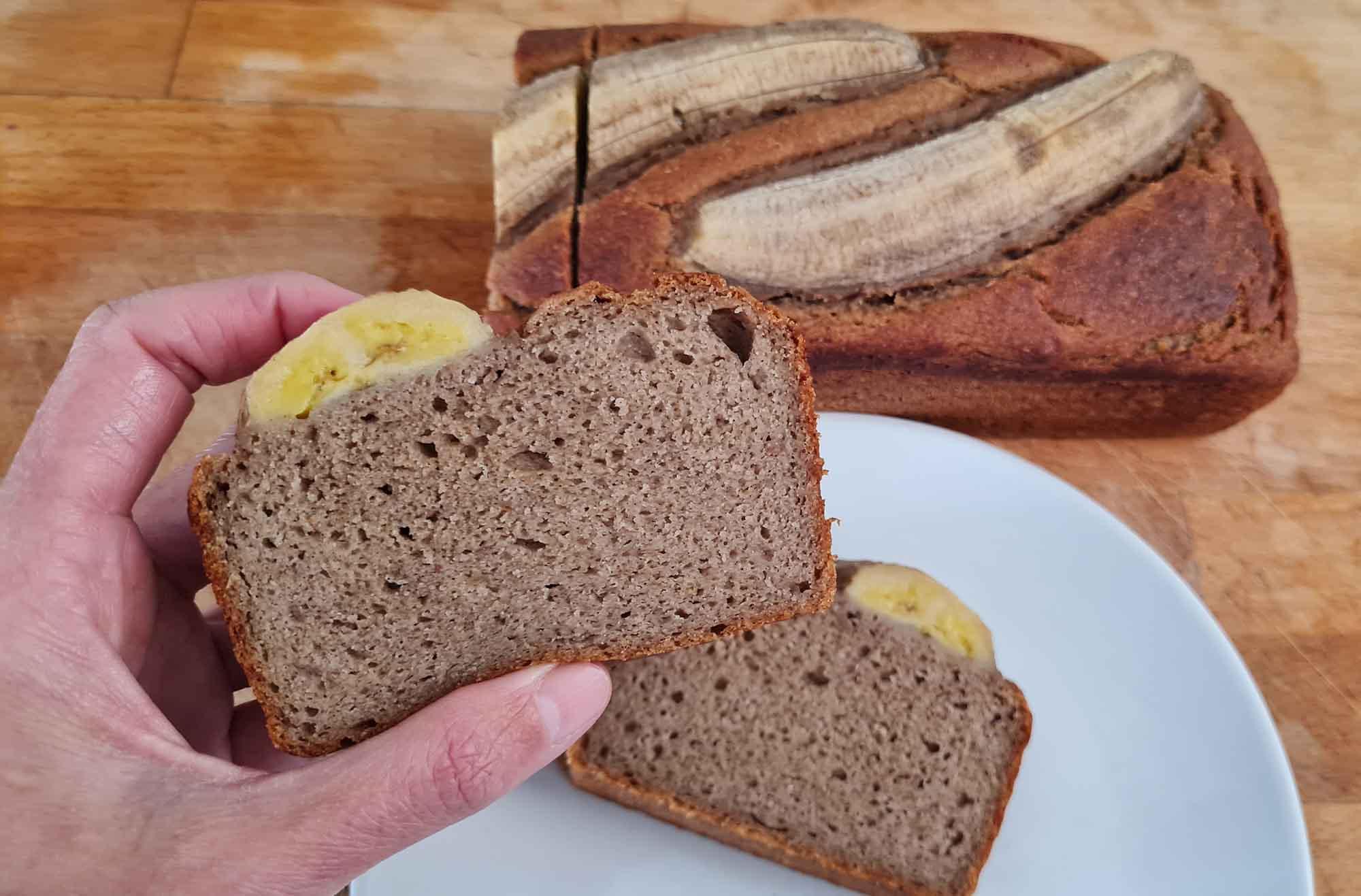 banana bread sin azucar receta